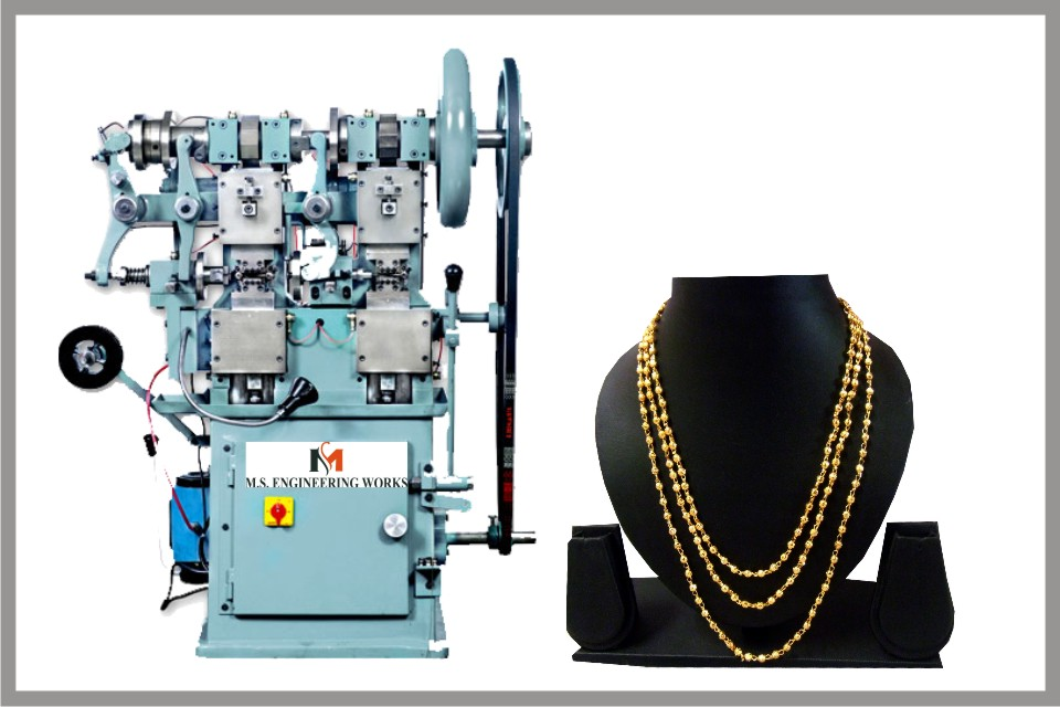 Ball chain making machines